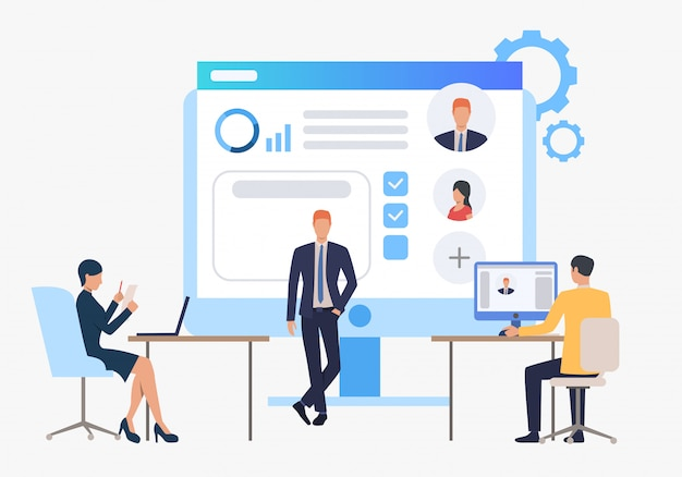 Contratação de agência, candidatos e entrevista de emprego