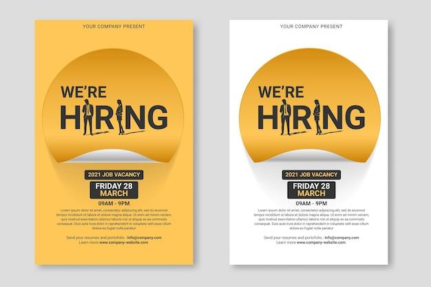 Contratação de cartaz de recrutamento.