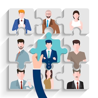 Contratação de pessoas de negócios