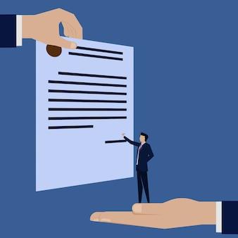 Contrato de contrato de assinatura de empresário.