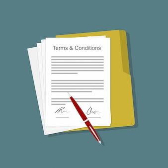 Contrato de contrato de termos e condições
