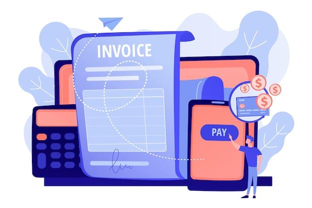 Contrato de empréstimo de dinheiro, aplicativo de pagamento e gestão de finanças
