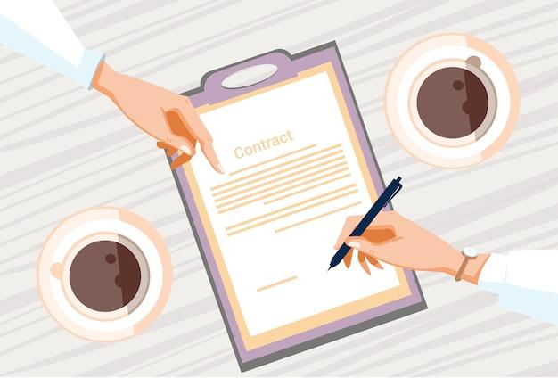 Contrato de inscrição em papel
