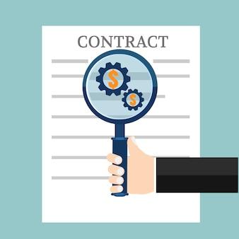 Contrato de negócios de preparação