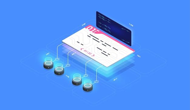 Contrato inteligente, assinatura digital. acesso de segurança digital com dados biométricos.