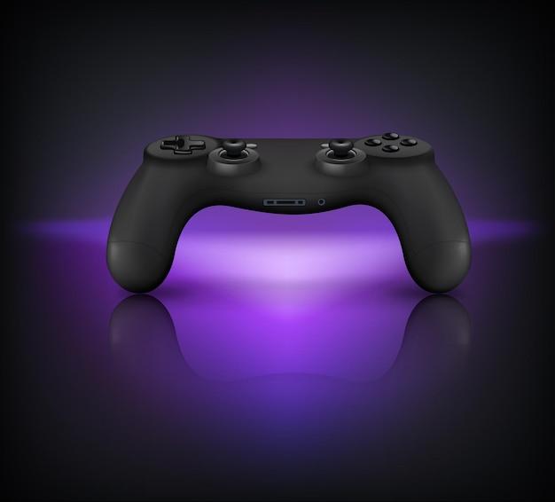 Controlador de gamepad com botões e joysticks