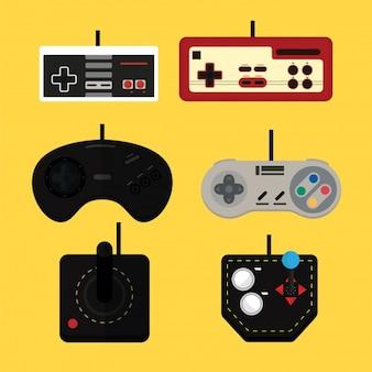 Controladores de jogos antigos