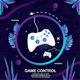Controle de design plano jogo de fundo vector