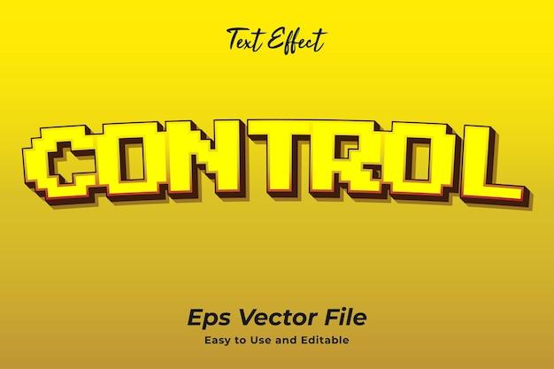 Controle de efeito de texto editável e fácil de usar vetor premium