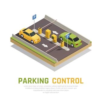 Controle de portão de estacionamento