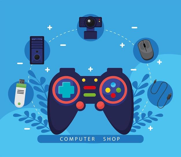Controle de videogame com íons