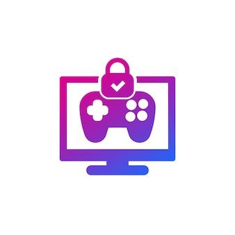 Controle dos pais para ícone de jogos com um gamepad