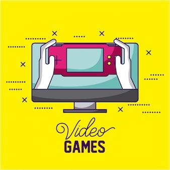 Controle e tela, jogos de vídeo