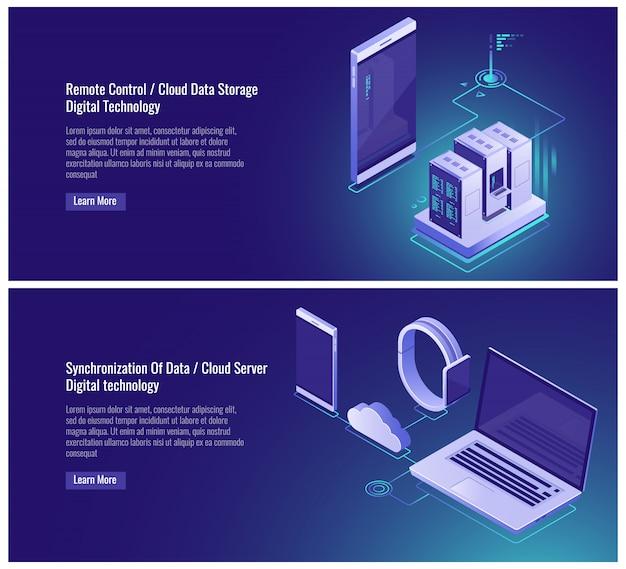 Controle remoto, armazenamento de dados em nuvem, rack de sala de servidores, mainframe, dispositivos eletrônicos