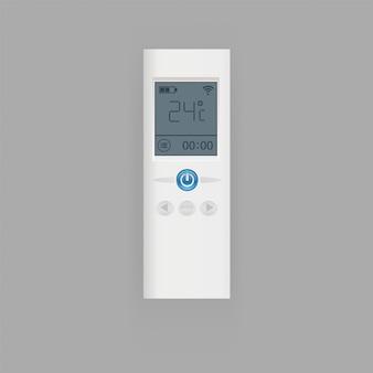 Controle remoto da ilustração do ar condicionado, equipamento de controle remoto realista plana com visor