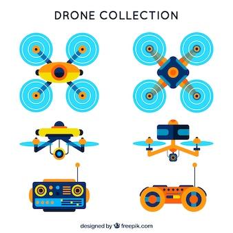 Controle remoto e coleta de drones