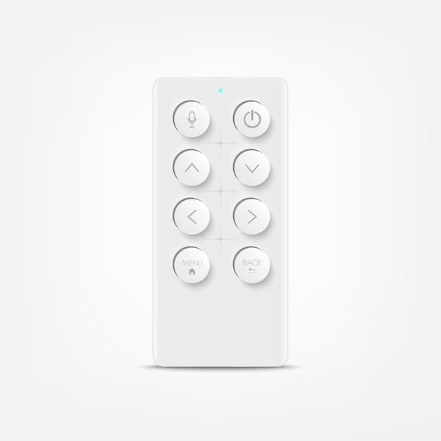 Controle remoto para tv ou media center. dispositivo para filmes de cinema vídeo. lazer em casa.