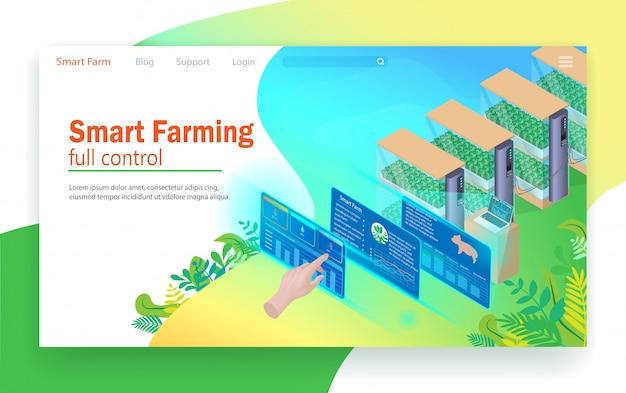Controle total de agricultura inteligente.