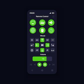Controle virtual do dispositivo a partir do modelo de vetor de interface de smartphone