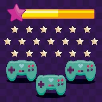 Controles clássicos de videogame