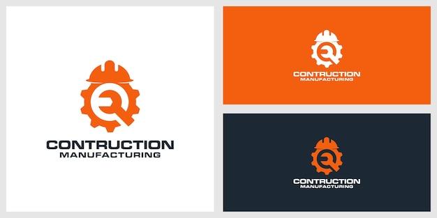 Contruction logo design premium