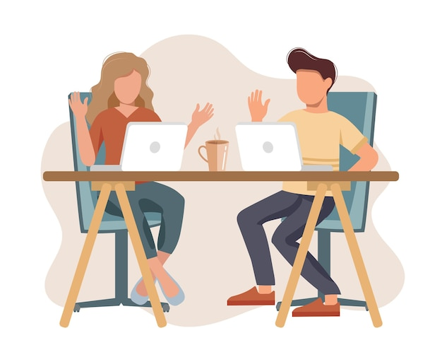 Conversa de entrevista de emprego