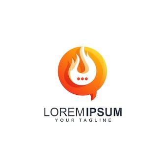 Conversa quente logotipo design ilustração