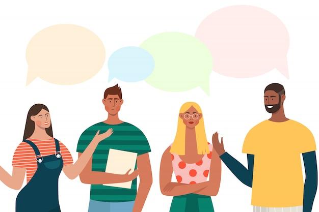 Conversando com pessoas
