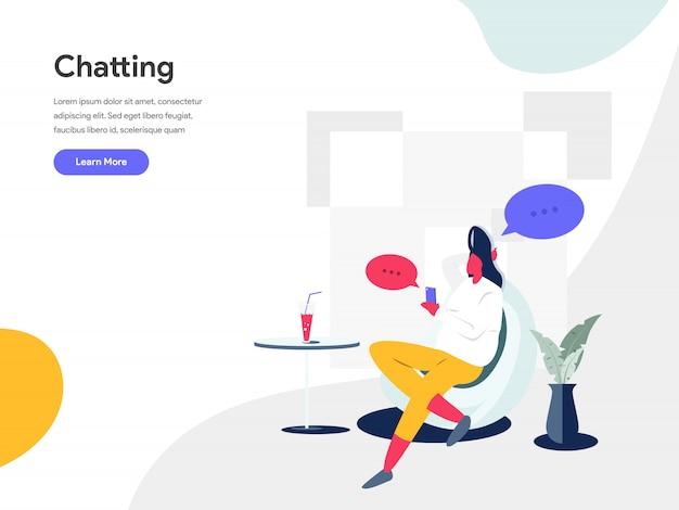Conversando conceito ilustração