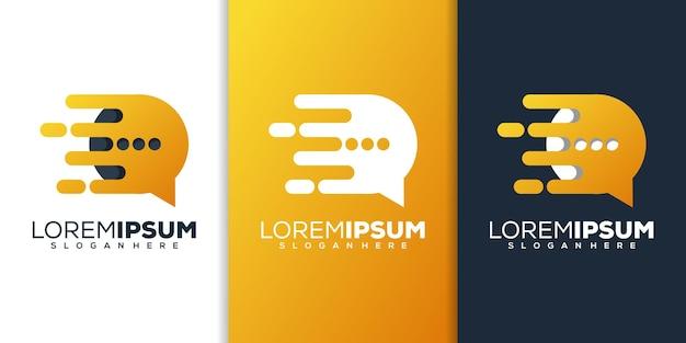 Converse com design de logotipo de tecnologia