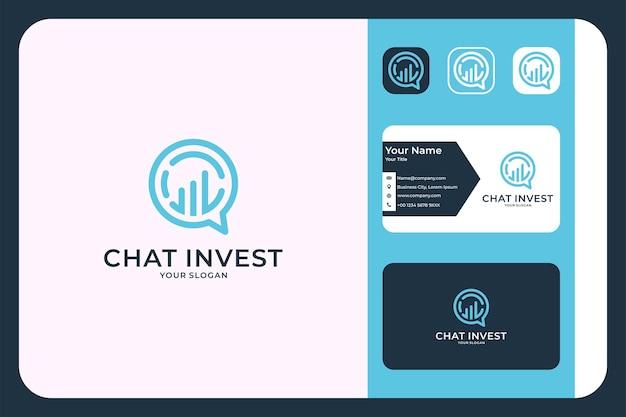 Converse com o design do logotipo e o cartão de visita da invest line art