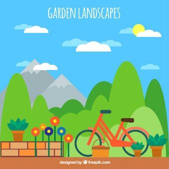 Convidando paisagem do jardim