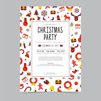Convite bonito da festa de natal