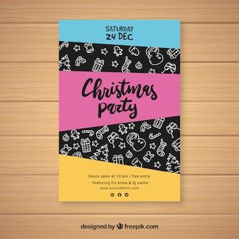 Convite colorido para uma celebração de natal