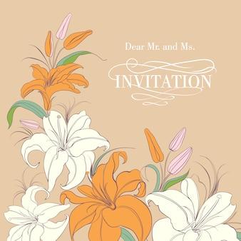 Convite com design floral