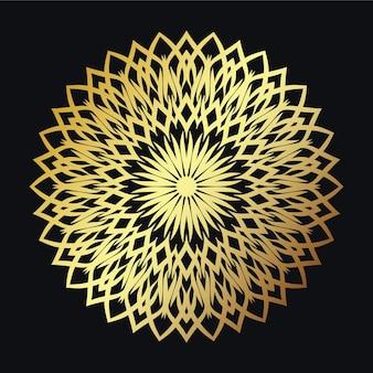 Convite com mandala design eps