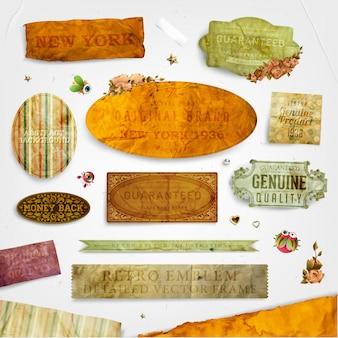 Convite conjunto beira do vintage textura