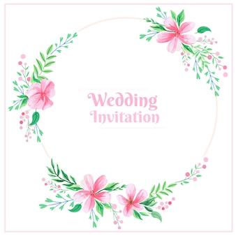 Convite cor-de-rosa do casamento
