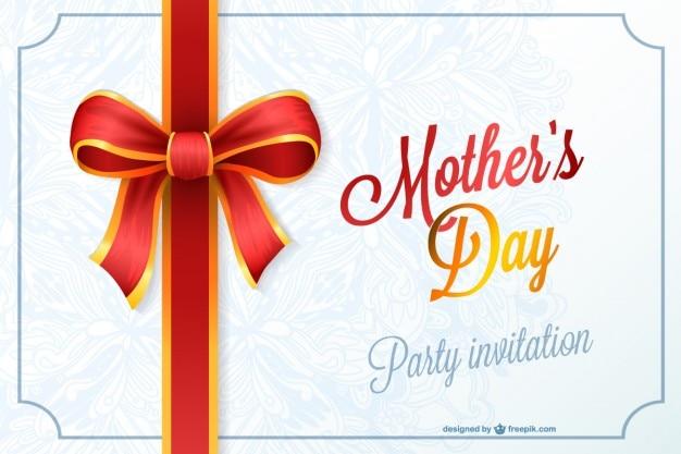Convite da festa de dia das mães Vetor grátis