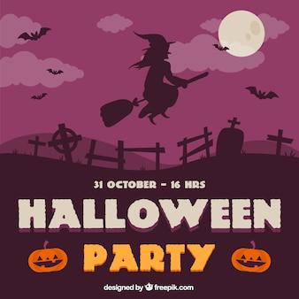 Convite da festa de halloween