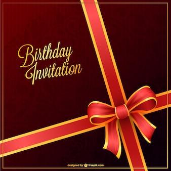Convite da festa de vetor para o aniversário