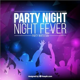 Convite da festa noturna
