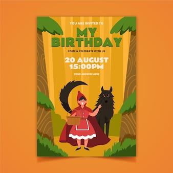 Convite de aniversário chapeuzinho vermelho