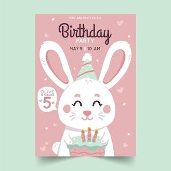 Convite de aniversário de criança