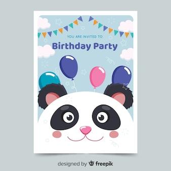 Convite de aniversário de crianças modelo