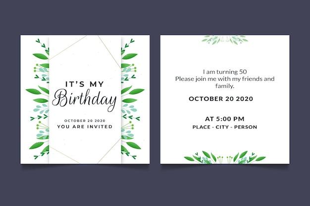 Convite de aniversário elegante