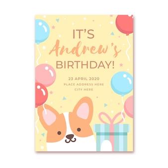 Convite de aniversário infantil modelo
