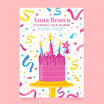 Convite de aniversário infantil