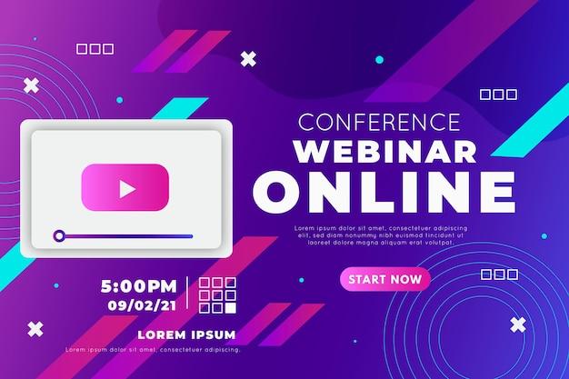Convite de banner para webinar