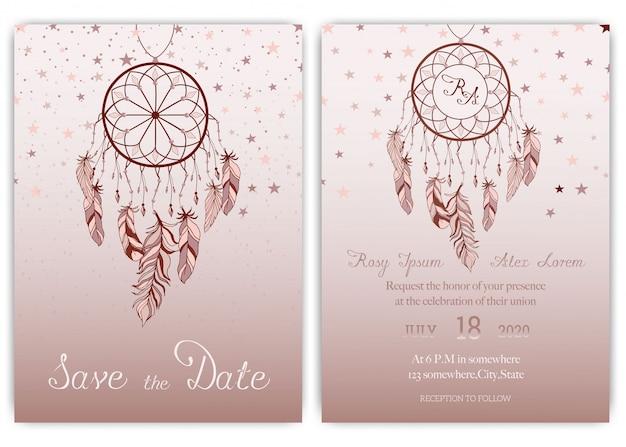 Convite de cartão de casamento